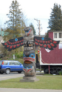 Eagle above Killer Whale with Spirit Helpers