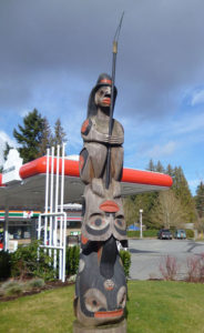 Coast Salish Fisherman above Killer Whale