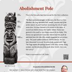 A plaque containing information about Abolishment Pole Totem