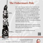 A plaque containing information about The Fisherman's Pole Totem