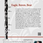 A plaque containing information about Eagle, Raven, Bear Totem