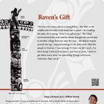 A plaque containing information about Raven's Gift Totem