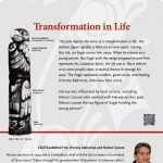 A plaque containing information about Transformation in Life Totem