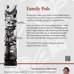 A plaque containing information about Family Pole Totem
