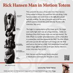 A plaque containing information about Rick Hansen Man in Motion Totem