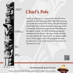 A plaque containing information about Chief's Pole Totem
