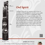 A plaque containing information about Owl Spirit Totem