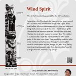 A plaque containing information about Wind Spirit Totem