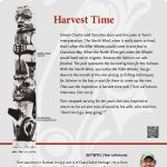 A plaque containing information about Harvest Time Totem