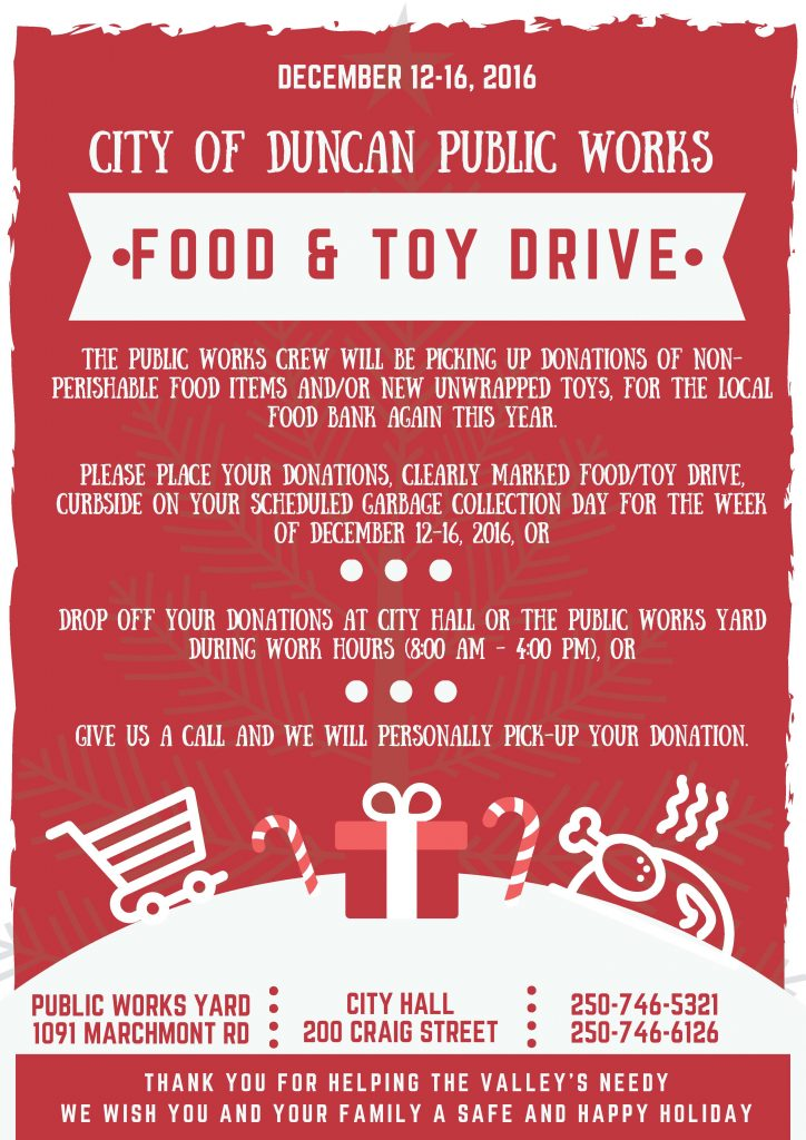 Toy and Food Drive Poster 2